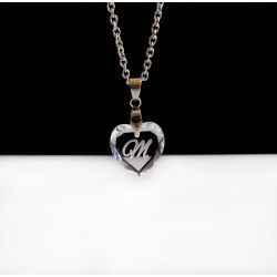 Swarovski Crystal Heart Initial Necklace