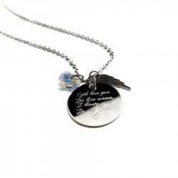 Swarovski Heart Memorial Necklace