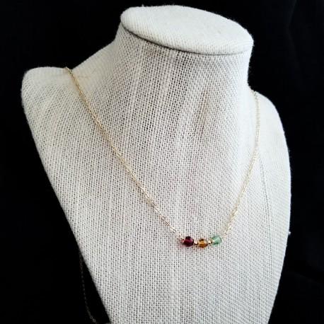 14k Gold Filled Swarovski Birth Month Necklace