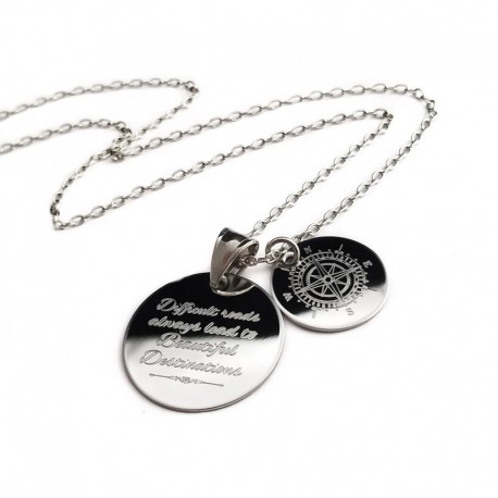 Compass Quote Necklace