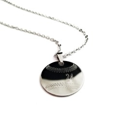 Baseball Pendant Necklace Large