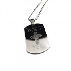 You Are My Son Shine Cross Dog Tag Necklace