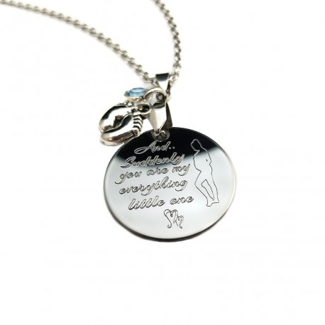 Mother To Be Quote Necklace