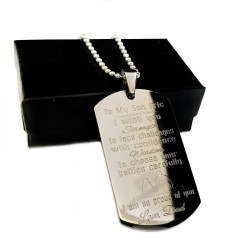 Strength and Wisdom Dog Tag Necklace