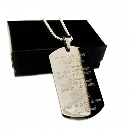 Proud You Are My Son Dog Tag Necklace