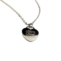 Mini Heart Name Necklace
