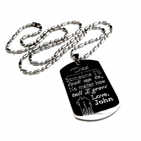 Personalized Father Dog Tag Necklace