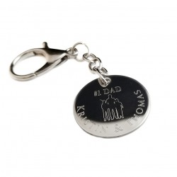 Dad Silhouette Key Ring