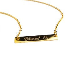 Blessed Gold Bar Necklace