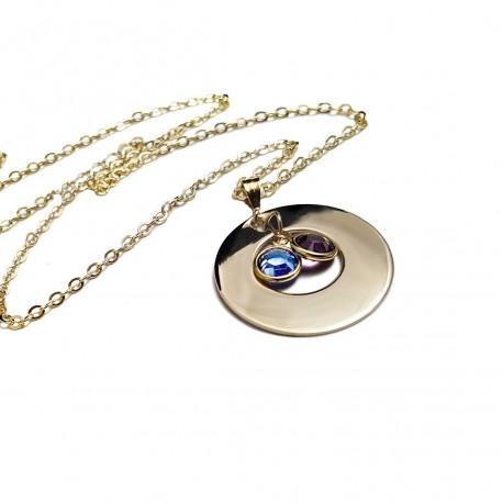 14k Gold Filled Family Swarovski Crystal Necklace