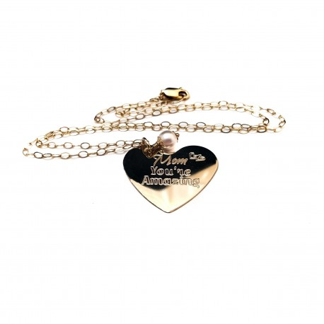 14k Gold Filled Mom Necklace