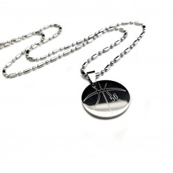 Basketball Pendant Necklace Large