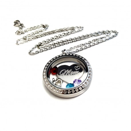 Mother's Floating Birthstone Locket