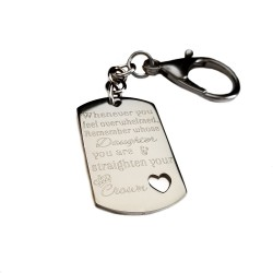 Straighten Your Crown Daughter Keychain