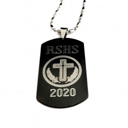 Black Graduation Dog Tag Keepsake