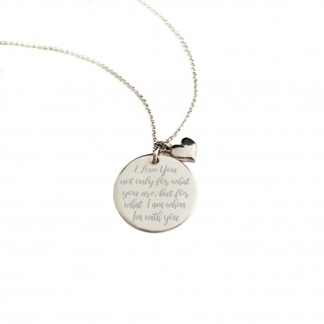 Personalized 925 Sterling Silver Quote Necklace