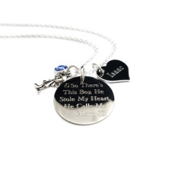Personalized Mother Son Necklace