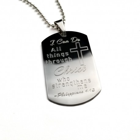 Bible Verse  Dog Tag Keepsake