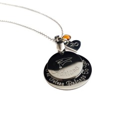 Personalized Engraved Graduation Necklace