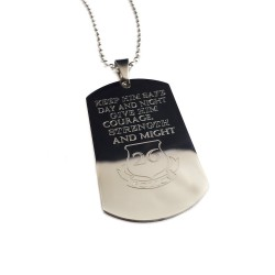 Personalized Police Officer Dog Tag Necklace