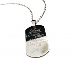 A Son's First Hero A Daughter's First Love Dad Necklace