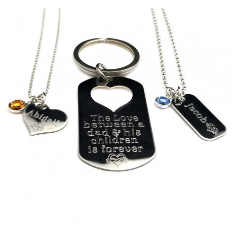 Personalized Father Son and Daughter Gift Set
