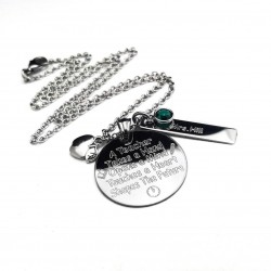 Teacher Quote Necklace