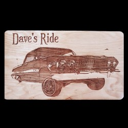 Wood Engraved Product Photo