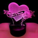 Heart Rose Couples Led lamp