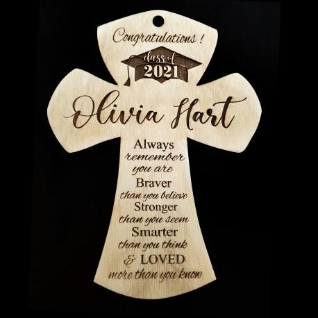 Personalized Graduation Wood Cross