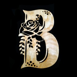 Initial Rose Wood Decor