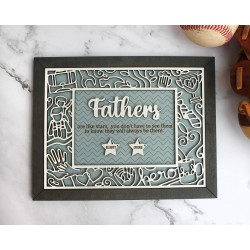Fathers Quote Wood Decor