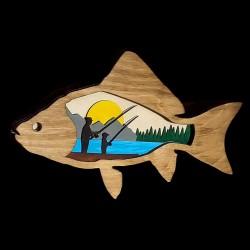 Father Son Fishing Wood Decor